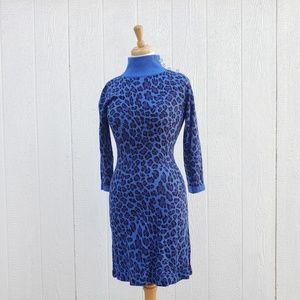 Blue Leopard Betsey Johnson Sweater Dress